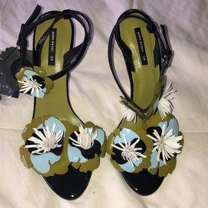 Zara Floral high Heel Sandals